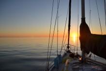 Lever de soleil en route dans la Baie de Chesapeaked