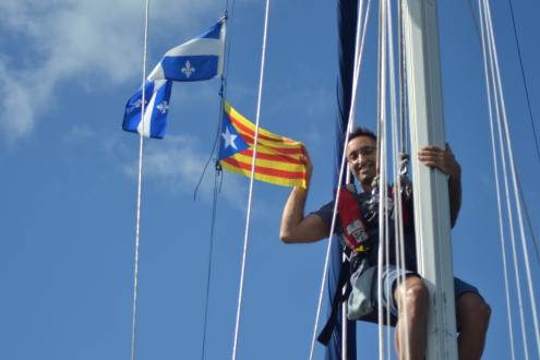 Le drapeau Catalan sur Boreas