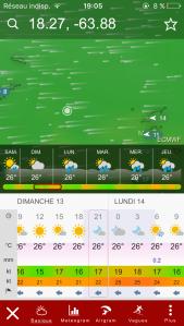 windy.com toujours pratique pour les prévisions météo
