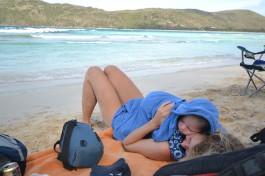 Petite sieste a Flamingo Beach