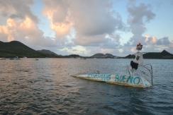Épave dans le lagon de Saint-Martin